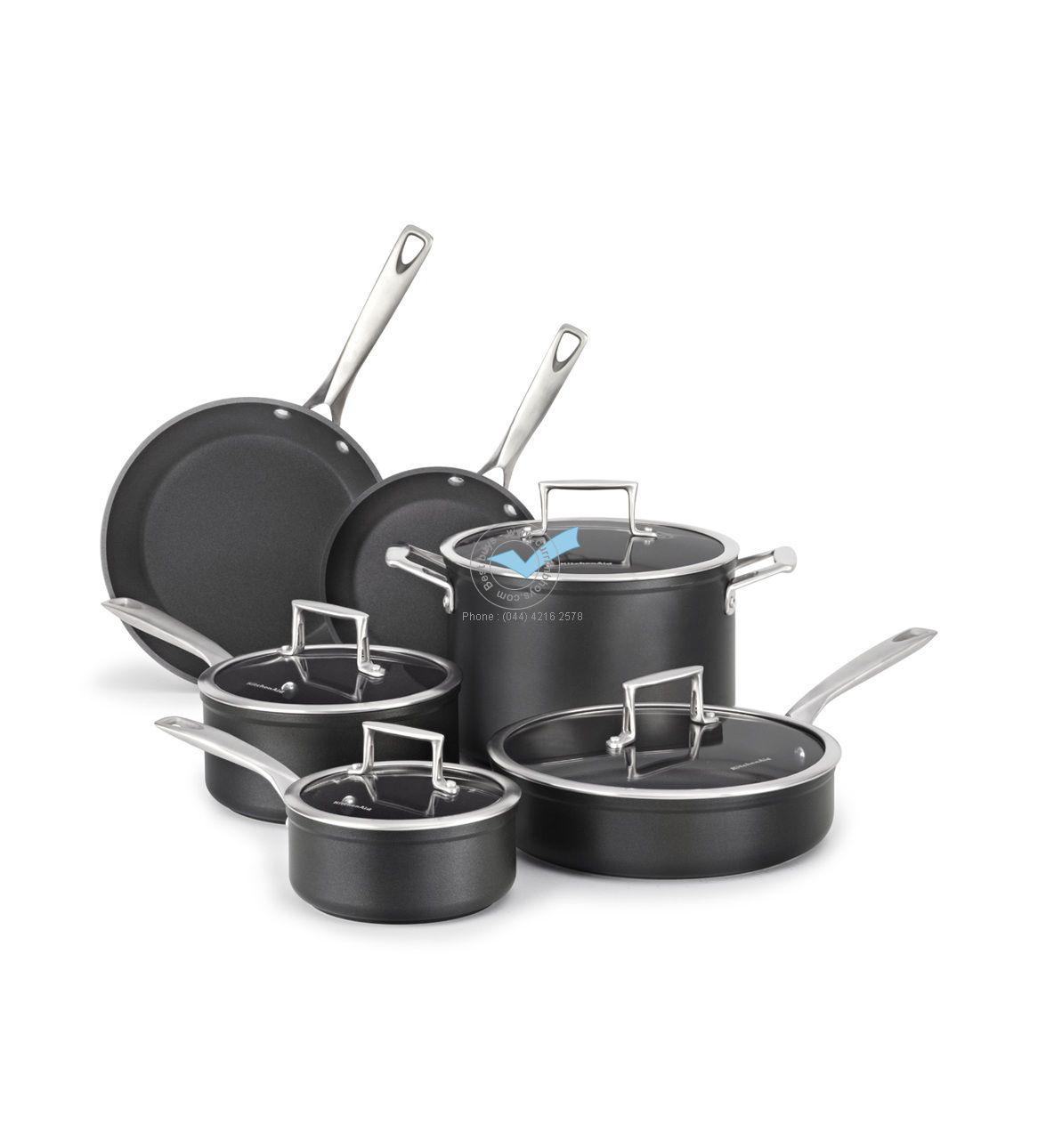 Tableware Liances Electrical Item Kitchenaid Cookware Prof Hard Anodized Black Metallic 10 Kch2s10km 14875